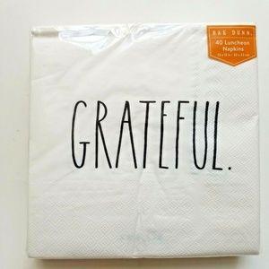 Rae Dunn Grateful Luncheon Napkins White 3-Ply